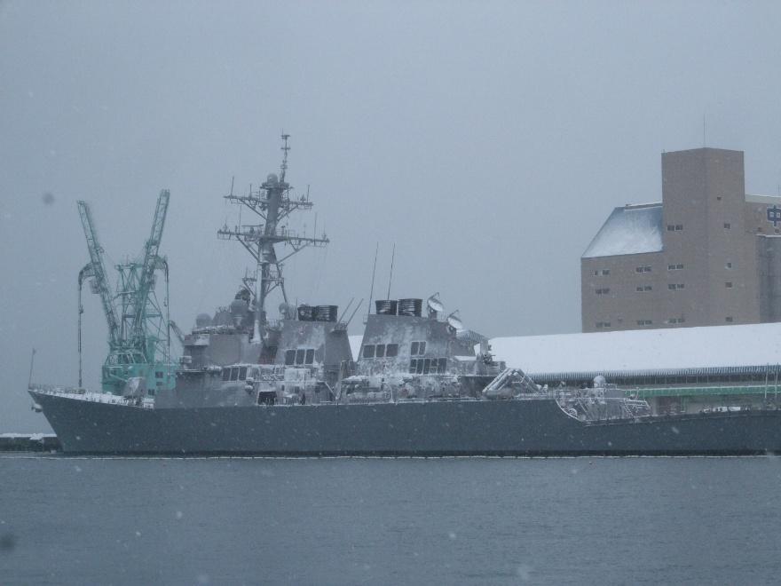 901) 小樽港 「米国第7艦隊所属 イージス駆逐艦『フィッツジェラルド』」 2009年2月8日_f0126829_1181860.jpg