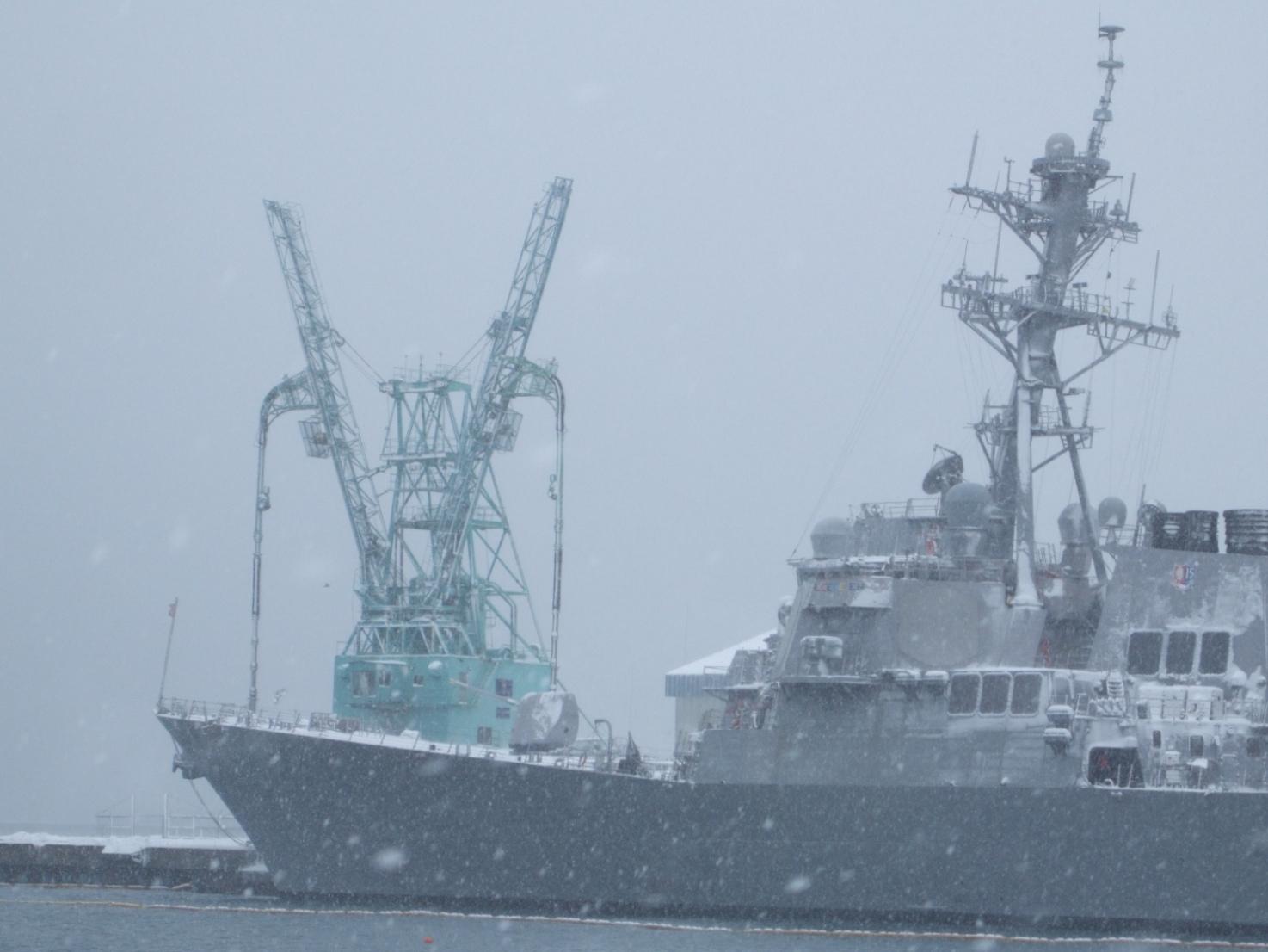 901) 小樽港 「米国第7艦隊所属 イージス駆逐艦『フィッツジェラルド』」 2009年2月8日_f0126829_1223794.jpg