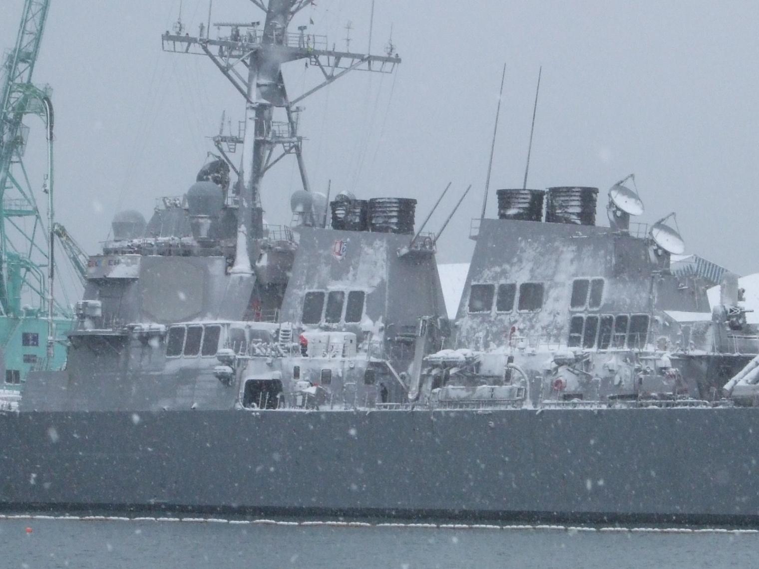 901) 小樽港 「米国第7艦隊所属 イージス駆逐艦『フィッツジェラルド』」 2009年2月8日_f0126829_12254894.jpg
