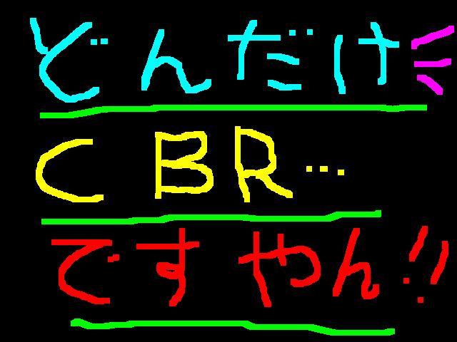 すごい勢いでCBR様?ですやん!_f0056935_1917279.jpg