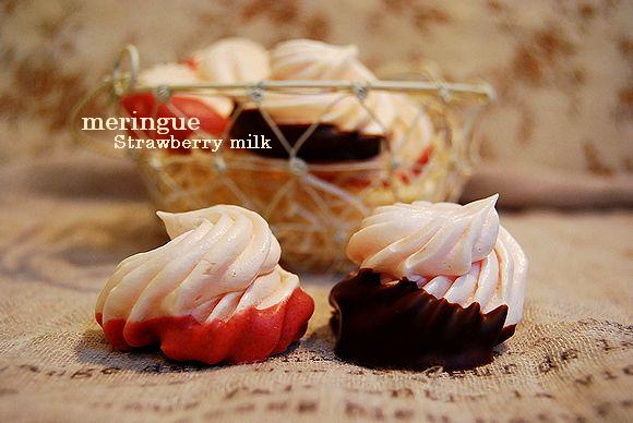 桜餡ベーグル & 練乳いちごの乙女メレンゲ_a0105872_4185100.jpg