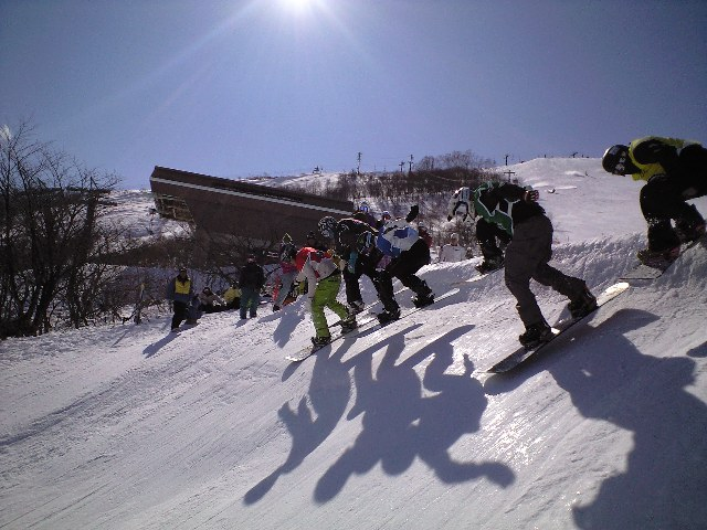 車山高原  スノーボードクロスプロ戦_c0151965_1029235.jpg