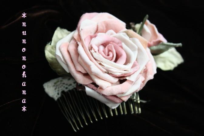 ピンク薔薇のヘアコーム_a0094675_17533684.jpg