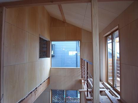 東石川の家Ⅱ 大工内装工事-3 2009/2/13_a0039934_18433453.jpg