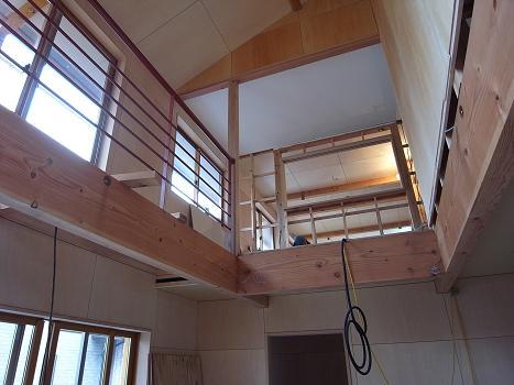 東石川の家Ⅱ 大工内装工事-3 2009/2/13_a0039934_18512591.jpg
