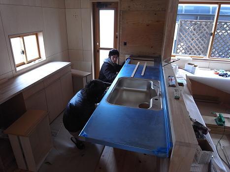 東石川の家Ⅱ 大工内装工事-3 2009/2/13_a0039934_18525890.jpg