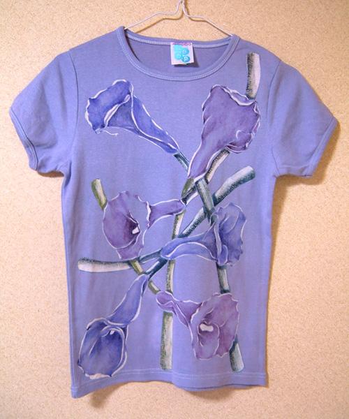order made 136 カラーのお花 手描きカットソー_e0104046_1253825.jpg