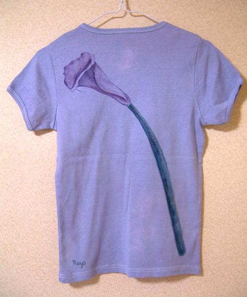 order made 136 カラーのお花 手描きカットソー_e0104046_1254948.jpg