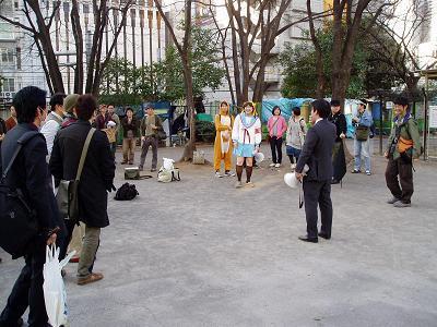 今日の渋谷駅前~「バレンタイン粉砕闘争」見学記2009_f0030574_20465878.jpg
