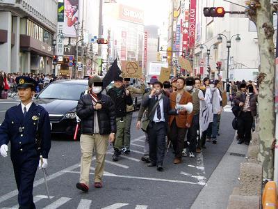今日の渋谷駅前~「バレンタイン粉砕闘争」見学記2009_f0030574_2145413.jpg