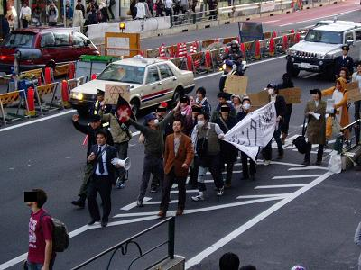 今日の渋谷駅前~「バレンタイン粉砕闘争」見学記2009_f0030574_2151940.jpg
