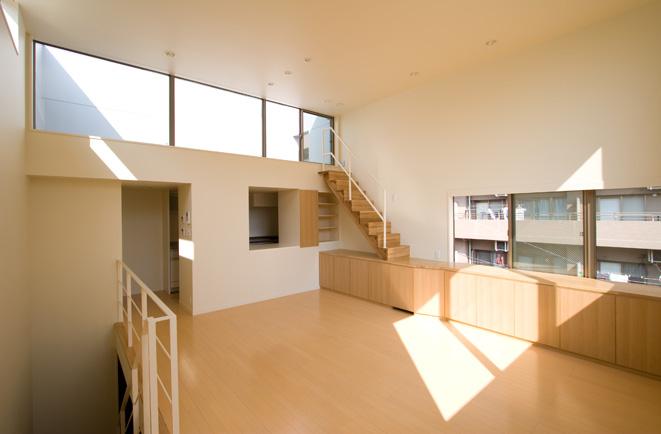 ライトコートの家 3 狭小住宅 建築家 シンプルなデザイン _e0127948_4131345.jpg