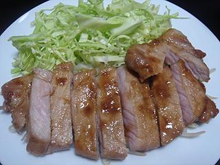 肉厚豚肉のしょうが焼き_c0025217_21374898.jpg