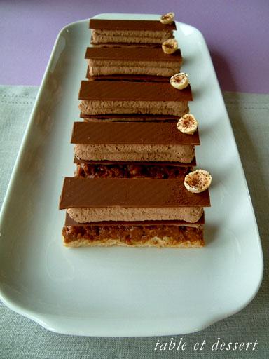 し、ノワゼットのプラリネ プラリネとショコラオレの小さなお菓子 bouc