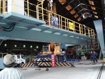 39t 橋型クレーン据付工事_f0110349_18483145.jpg