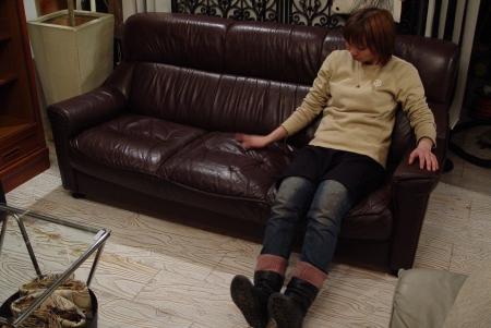 こげ茶色本革シートの3Pソファー入荷しました!!_a0096367_2156810.jpg