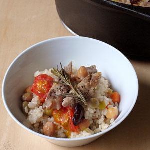 豚と豆のご飯_a0118345_15262661.jpg