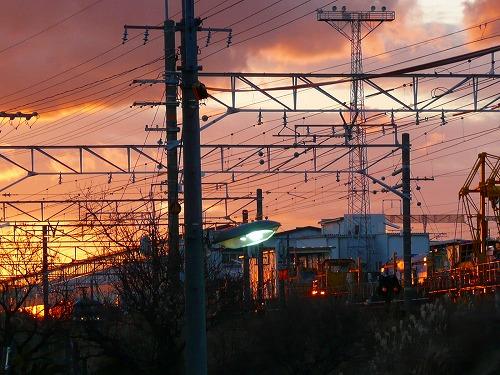 東海道本線と夕陽_c0087349_11124232.jpg