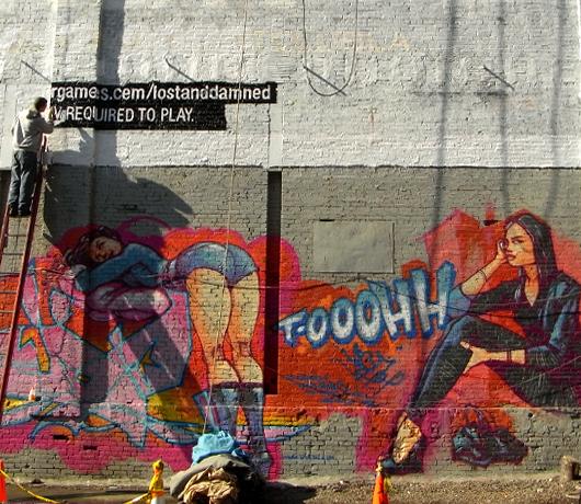 ニューヨークの街角風景から、巨大壁画広告を描く人々_b0007805_1353387.jpg