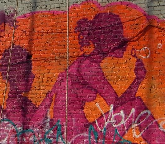 ニューヨークの街角風景から、巨大壁画広告を描く人々_b0007805_1373573.jpg