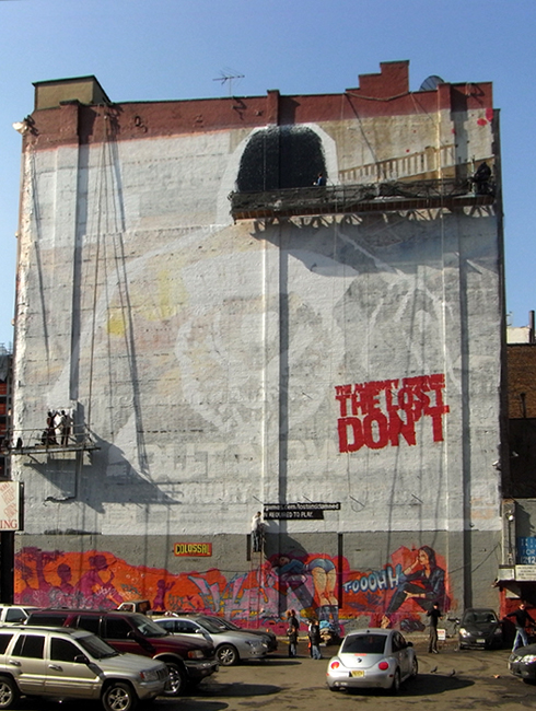 ニューヨークの街角風景から、巨大壁画広告を描く人々_b0007805_139102.jpg