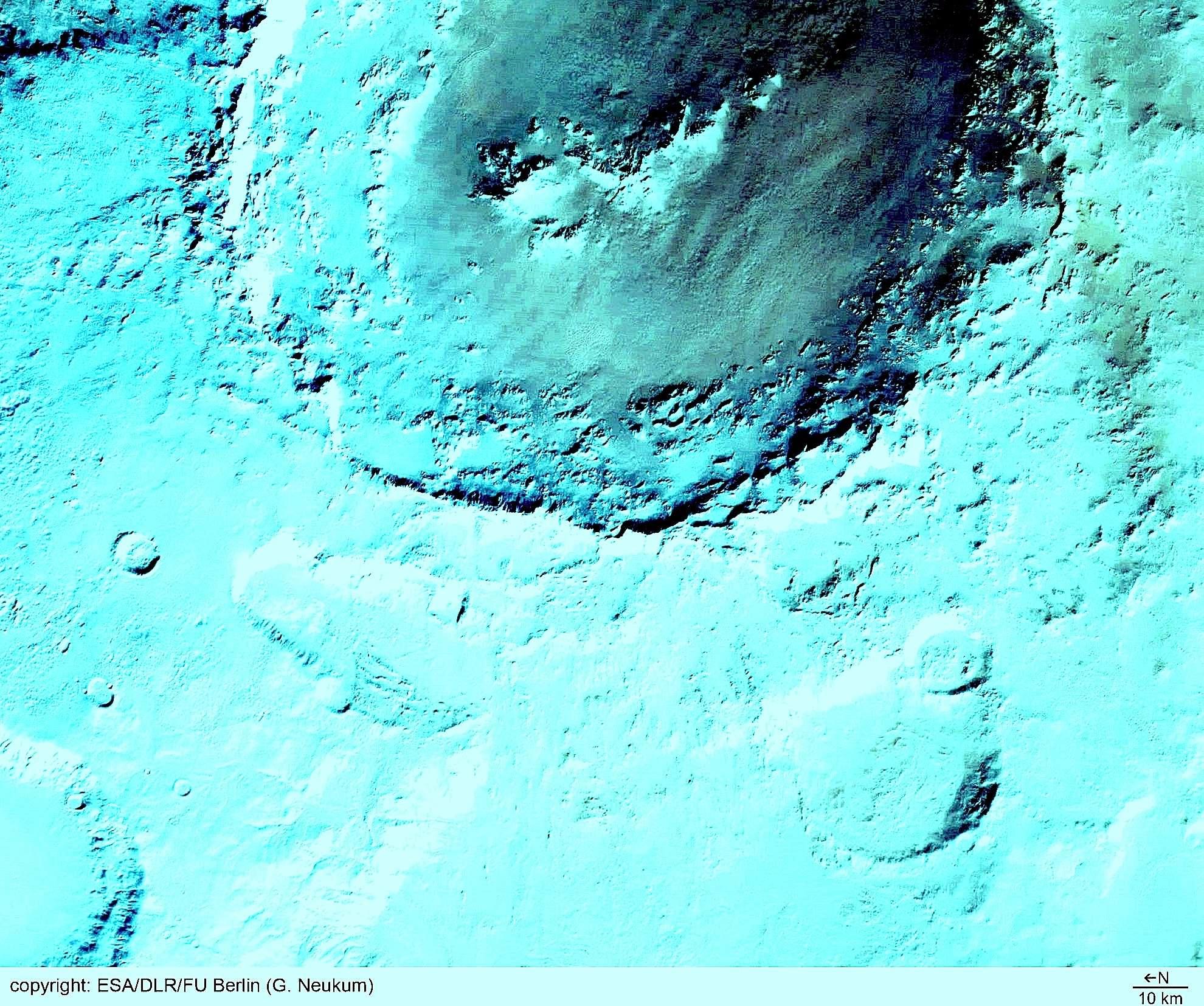 火星の「ヘールクレーターの謎」:無数の住居跡が存在か?_e0171614_1415551.jpg