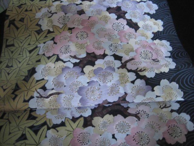 きものサロン掲載・織りにこだわった桜の帯。_f0181251_1636492.jpg