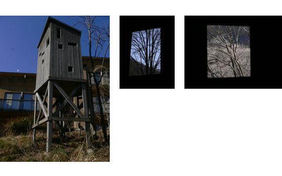 【制作活動】 絵画のための見晴らし小屋 窓部修復完了_b0143239_16573750.jpg