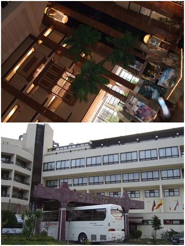 ホテルとバス