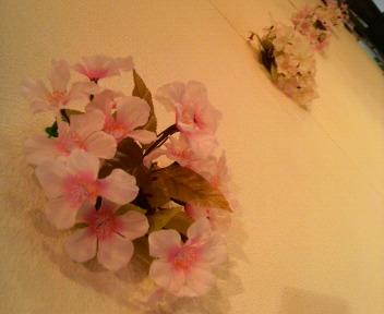 桜をディスプレイ♪_c0140599_10435073.jpg