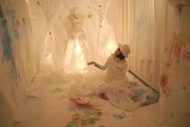 アイ・ラヴ・キャッツ展@ARTSRUSH/神田サオリ描きかけの絵のある風景@アートコンテナin日比谷パティオ_f0006713_254488.jpg