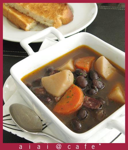 黒豆のスープシチュー_a0056451_11503315.jpg