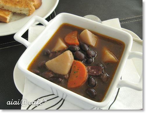 黒豆のスープシチュー_a0056451_1152647.jpg