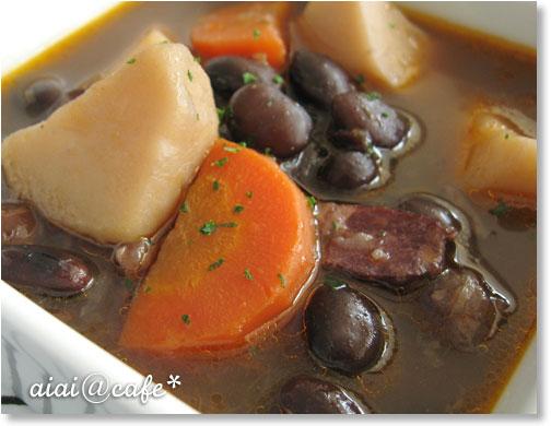 黒豆のスープシチュー_a0056451_11533388.jpg