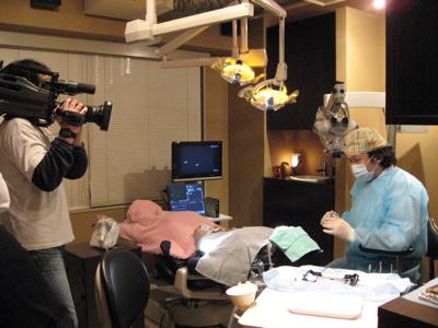 テレビニュースの取材を受けた。自分の思いを伝えたい。東京職人歯医者_e0004468_661821.jpg