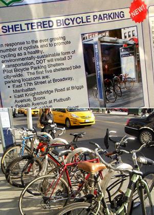 バイクレーンに続いてニューヨークに駐輪場が登場_b0007805_146387.jpg