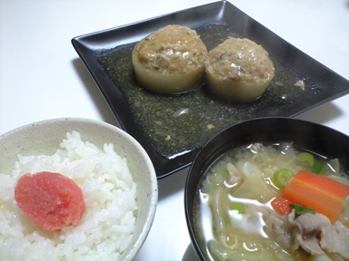 おうちご飯 大根の肉詰め煮込み~♪_e0123286_18563048.jpg