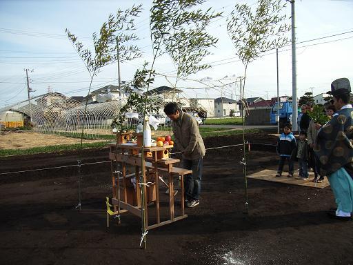 NKさんの家 地鎮祭 2009/2/28_a0039934_18363625.jpg