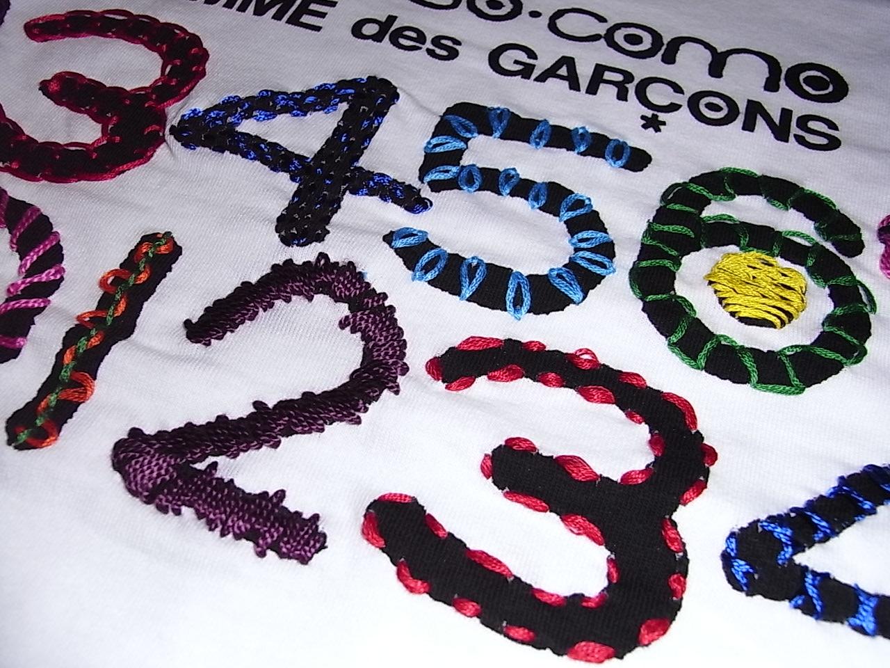 10 corso como COMME des GARCONS 刺繍TEE_f0010106_20282979.jpg