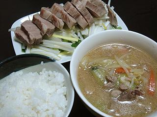 ローストポークと肉味噌スープ_c0025217_17172948.jpg