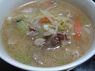 ローストポークと肉味噌スープ_c0025217_1718136.jpg