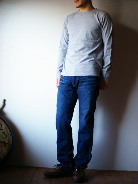 RINEN [リネン] 20/1オーガニックSZ天竺 リーフネック 長袖Tシャツ _f0051306_20451269.jpg