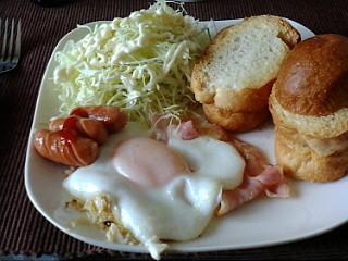 2009年3月4日 bacon and eggs!!_c0068174_7104648.jpg