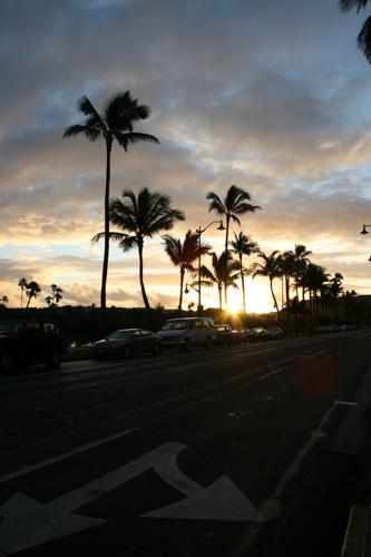 ハワイNOV2008 旅日記26(最終日朝。朝焼け。)_f0059796_14531034.jpg
