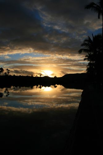 ハワイNOV2008 旅日記26(最終日朝。朝焼け。)_f0059796_14532375.jpg
