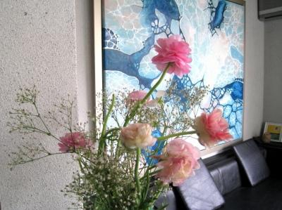 春です、ライムアートにはラナンキュラス がよく似合う!_e0010418_9312651.jpg