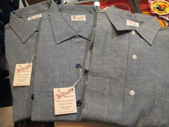 3/7(土)入荷分!Tシャツ!60'S 半袖シャンブレーシャツ デッドストック!_c0144020_1427524.jpg