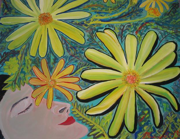 花と顔_c0186580_104011.jpg