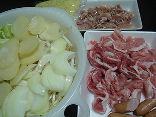 豚肉と野菜などの鉄板焼き_c0025217_1155879.jpg