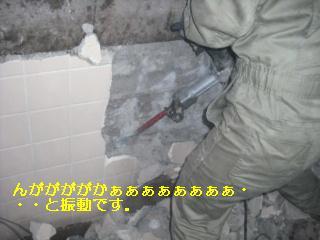 浴室リフォーム 解体作業_f0031037_21382171.jpg